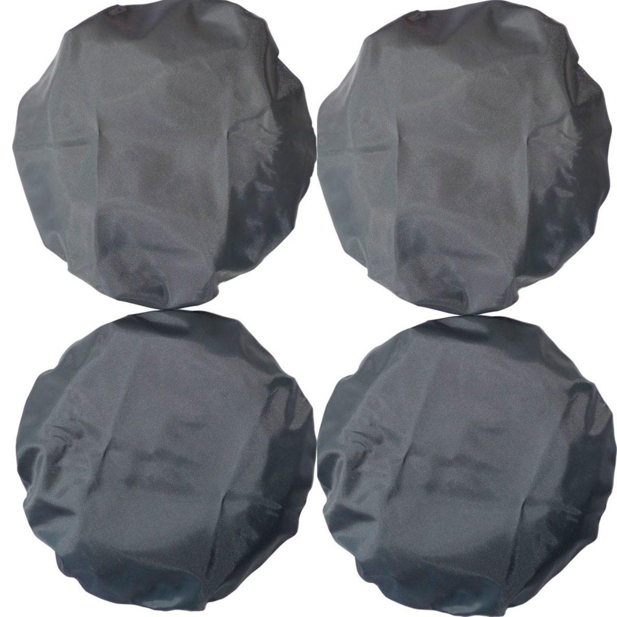 Чехлы на колеса коляски Чудо-Чадо цв. мокрый асфальт, D 18-23 см, 4 шт.