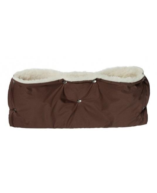 Купить Муфта меховая для рук на коляску Чудо-Чадо Комфорт шоколадный, Муфты на коляску