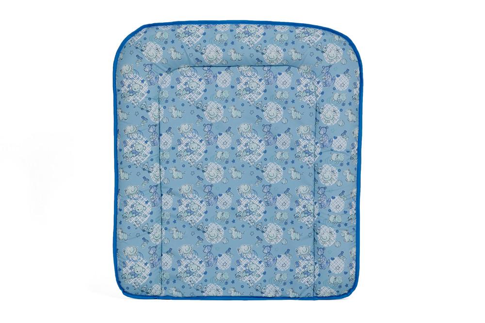 Доска пеленальная на комод Фея Животные мягкая, цв. голубой