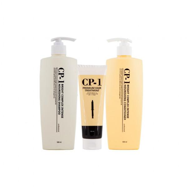 Купить Набор ESTHETIC HOUSE CP-1 состоящий из 3х средств (протеиновый шампунь, кондиционер, маска), Набор по уходу за волосами ESTHETIC HOUSE CP-1 состоящий из 3х средств (протеиновый шампунь