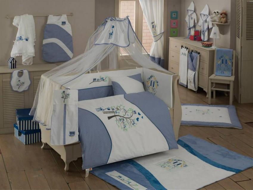 Купить Комплект постельного белья Kidboo Sweet Home голубой, 6 предметов,