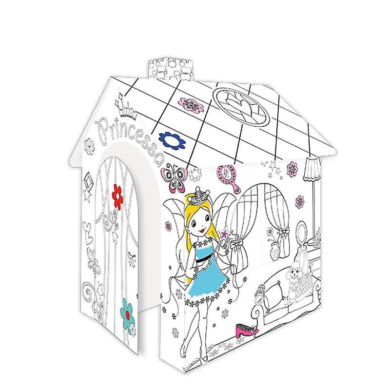 Игровой картонный домик раскраска Mochtoys Принцесса