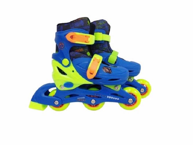 Купить Ролики раздвижные Next синие, колеса ПВХ, размер 31-34, Роликовые коньки