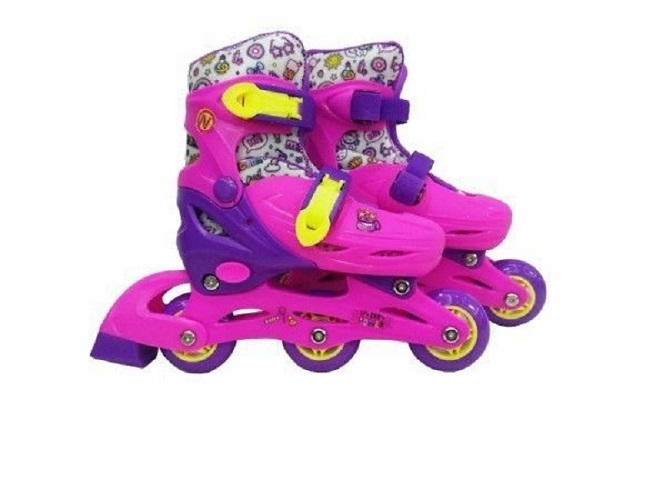 Купить Ролики раздвижные Next розовые, колеса ПВХ, размер 31-34, Роликовые коньки