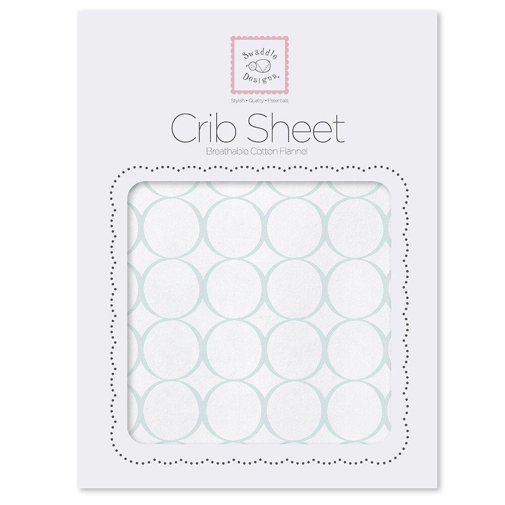 Простынь детская SwaddleDesigns Fitted Crib Sheet