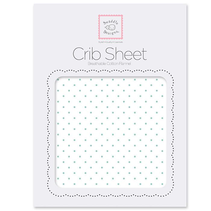 Простынь детская SwaddleDesigns Fitted Crib Sheet SeaCrystal