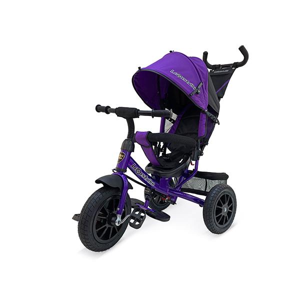 Велосипед трехколесный Lexus Trike фиолетовый, колеса надувные 12\