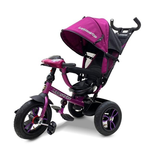 Велосипед трехколесный Lexus Trike малиновый, колеса надувные 12\