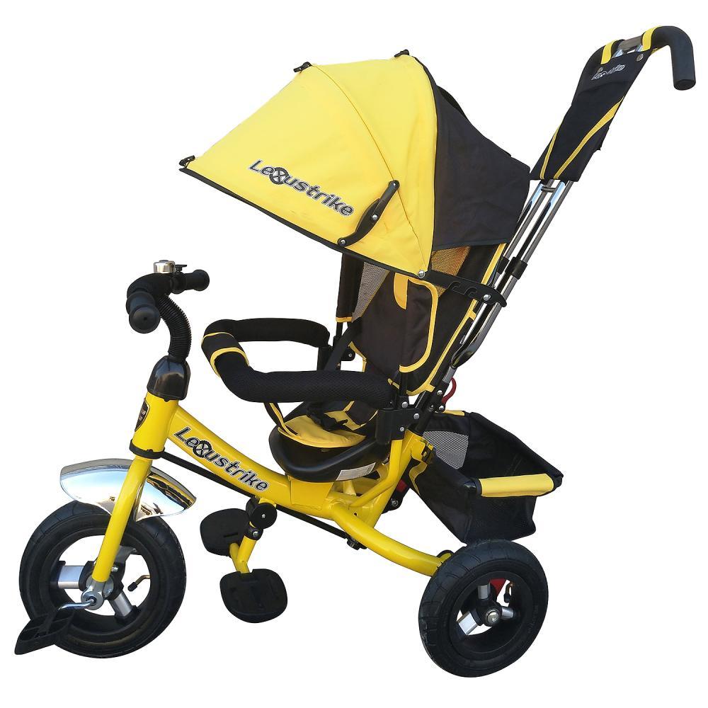 Велосипед трехколесный Lexus Trike желтый, колеса надувные 10\