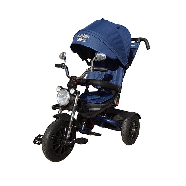 Велосипед трехколесный Lexus Trike Moto со светомузыкой синий, колеса 12\