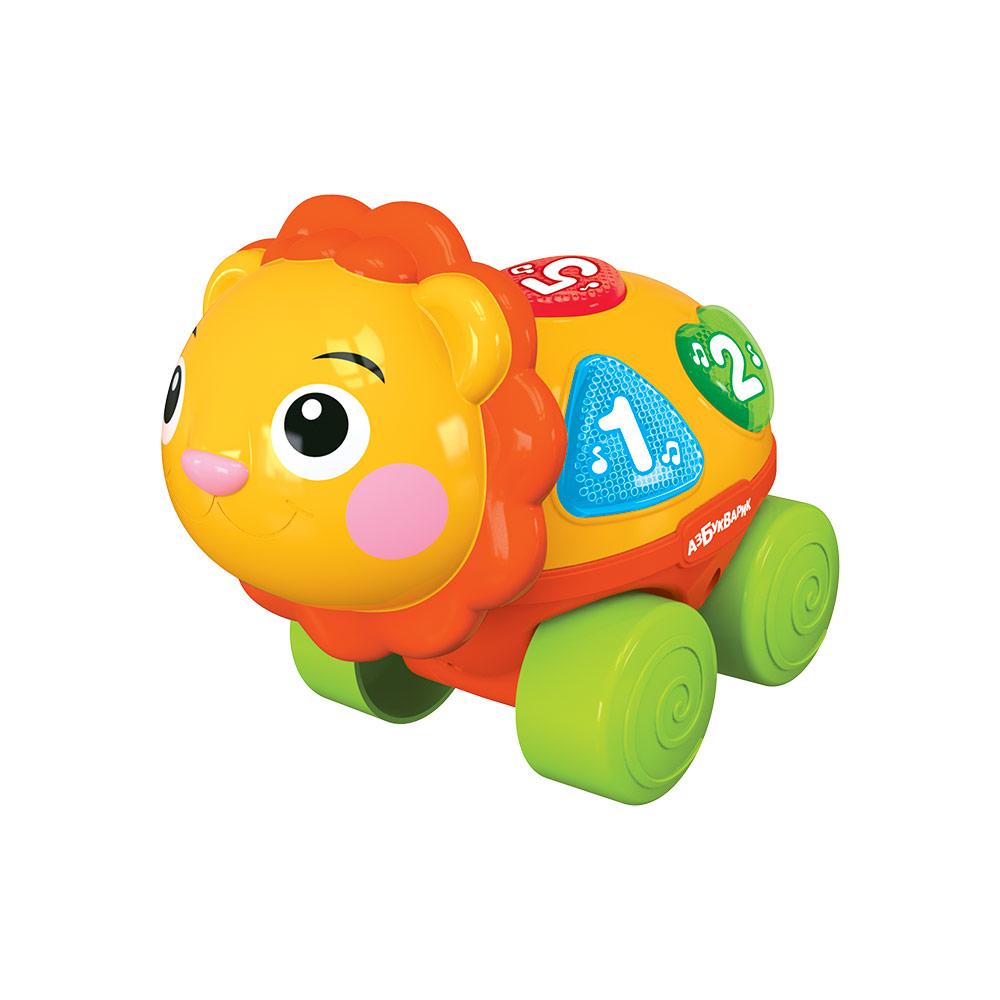 Развивающая игрушка Азбукварик Львенок музыкальная каталка