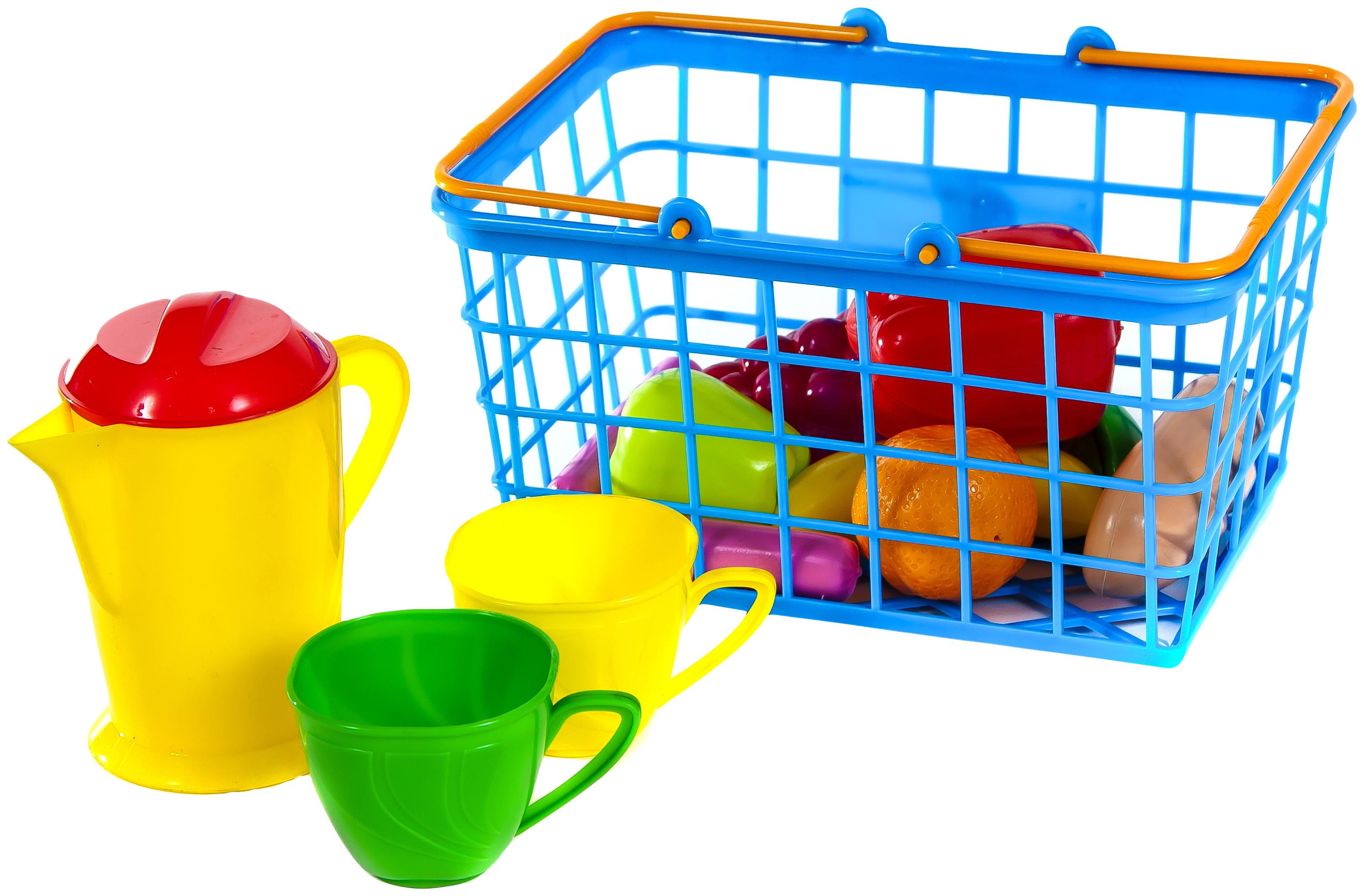 Купить Корзинка с набором посуды, 14 предметов, Orion,
