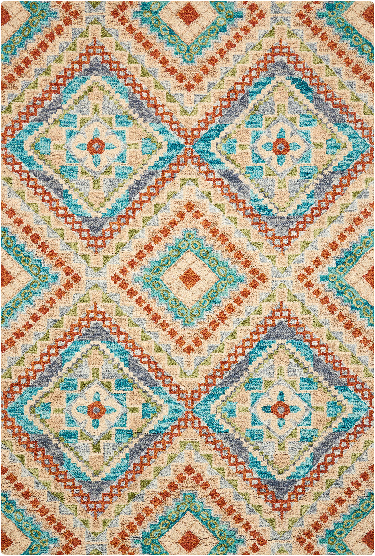 Шерстяной ковер ручной набивки коллекции «Vibrant», 55348, 69x229 см
