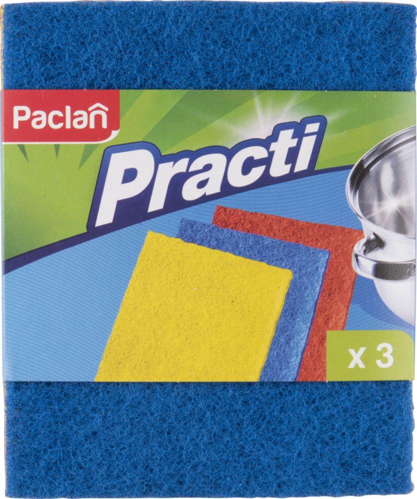 Губка для посуды Paclan Practi Мочалка из игольчатого абразива 3 шт