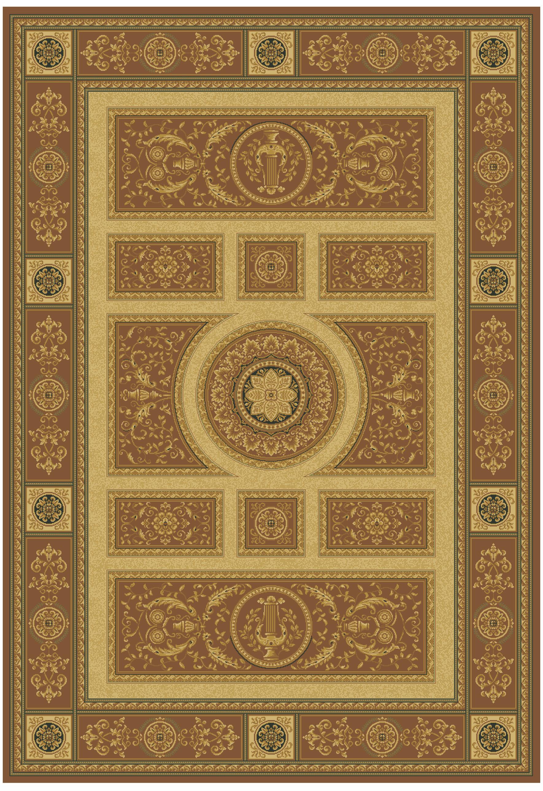Ковер из вискозы коллекции «Brilliance», 43020, 80x150 см