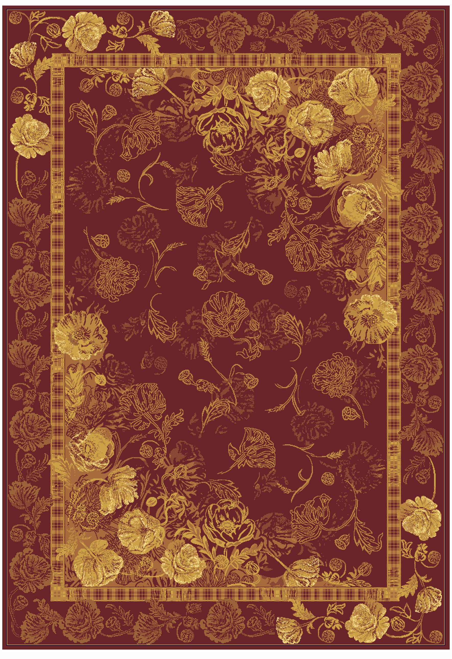 Ковер из вискозы коллекции «Brilliance», 43116, 80x150 см