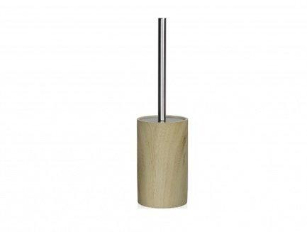 Andrea House Ершик для туалета Wood and Chrome, 9.5х37 см BA67075