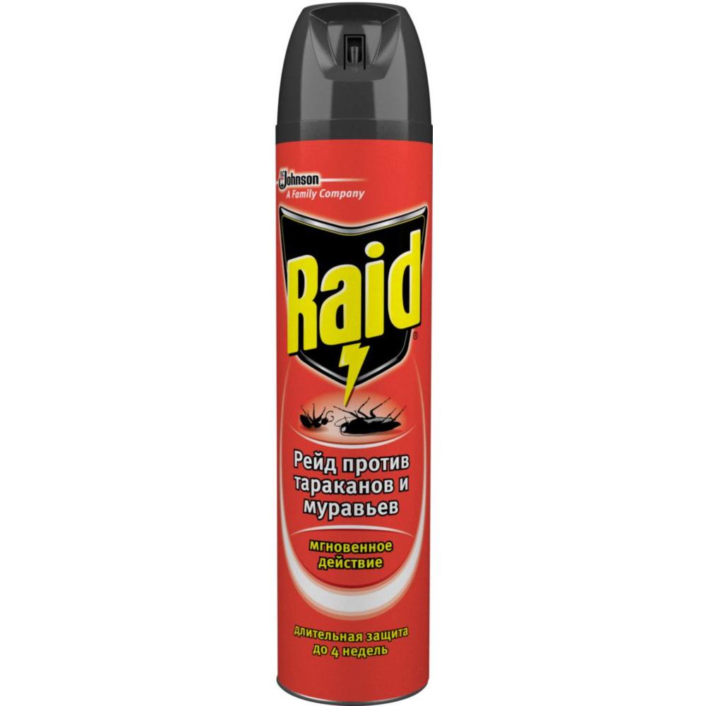 Аэрозоль Raid от тараканов и муравьев