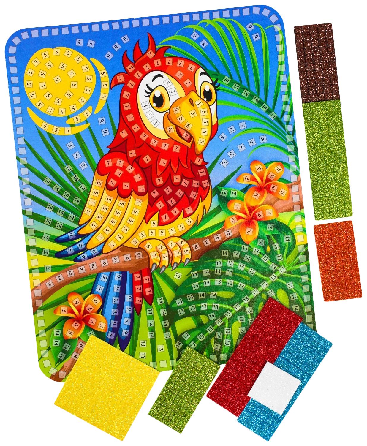 Набор для творчества Блестящая мозаика. Попугай , Danko Toys,  - купить со скидкой