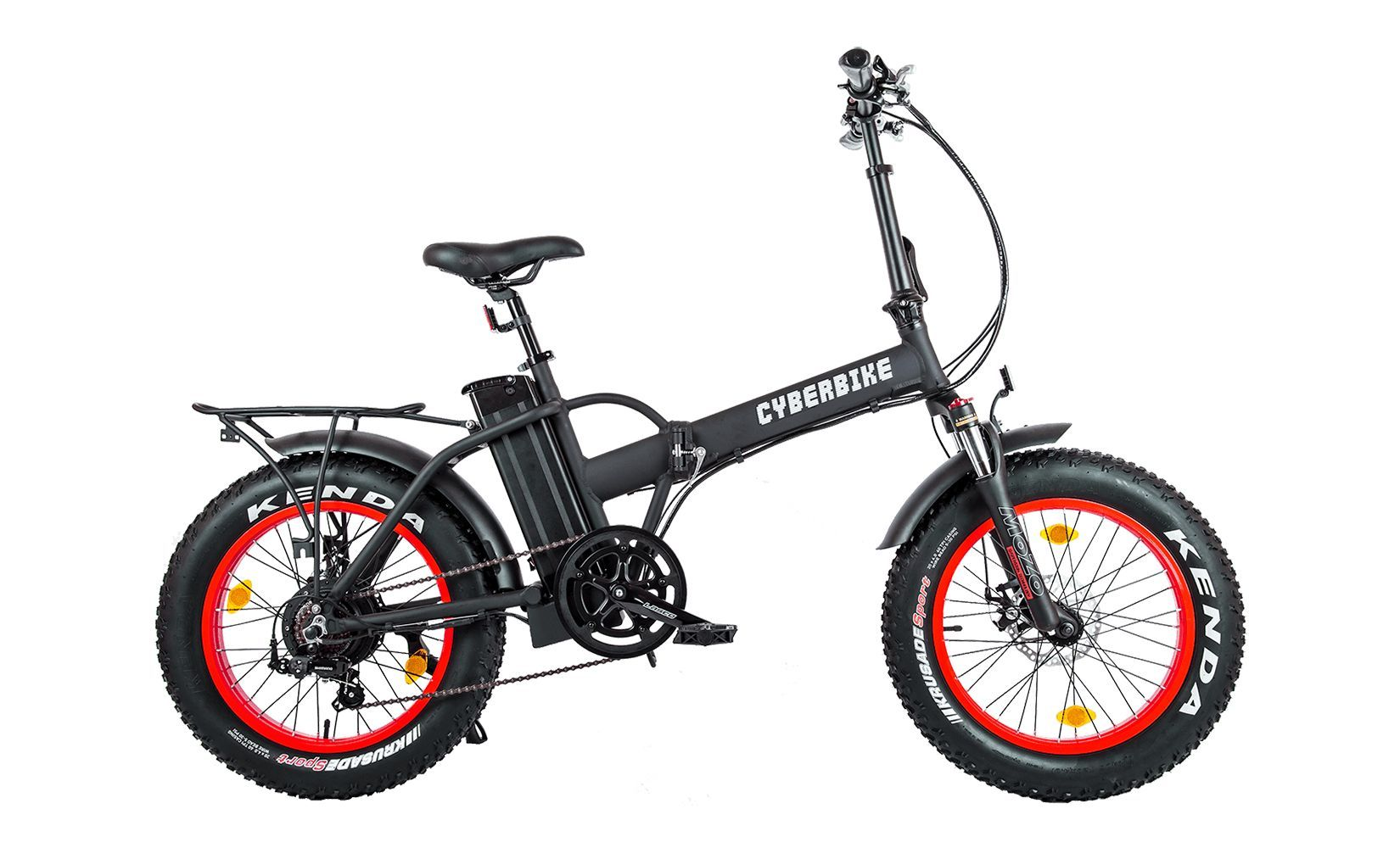 Электровелосипед Cyberbike Fat 500 W 2020 One Size black/red
