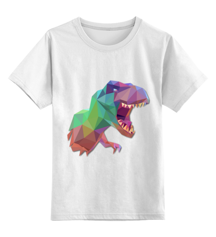 Купить 0000002910872, Детская футболка Printio Динозавр цв.белый р.116,