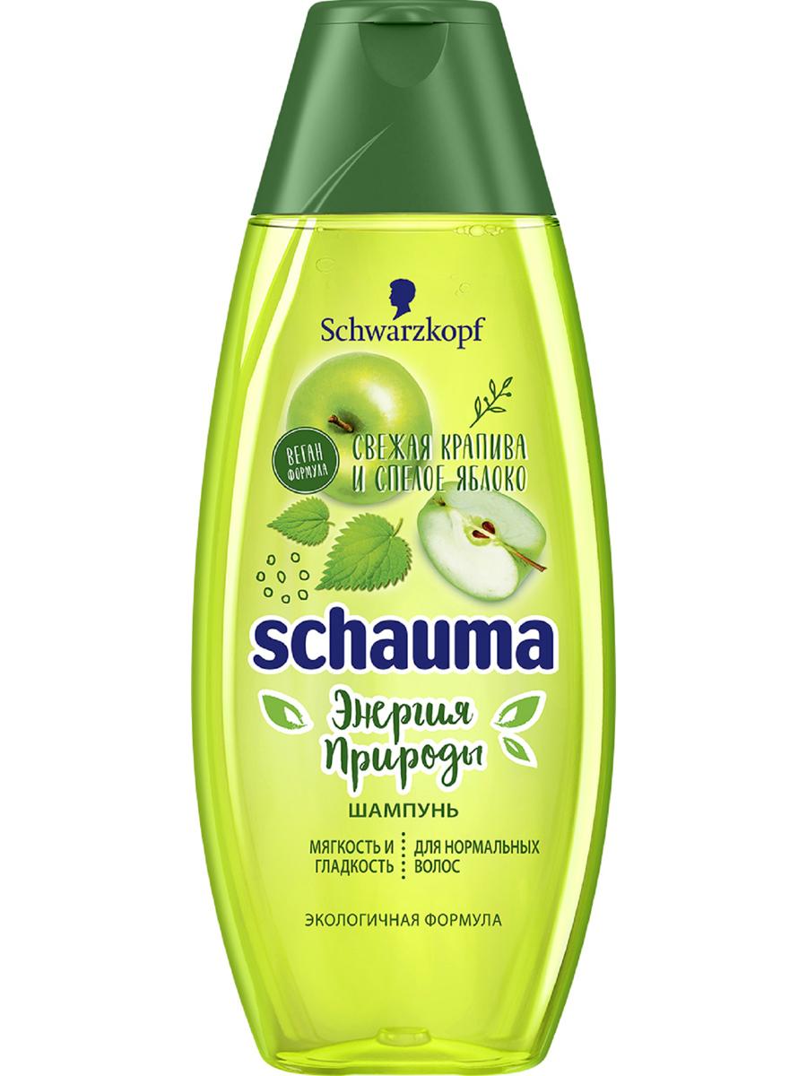 Купить Шампунь Schauma Энергия природы, для нормальных волос, мягкость и гладкость, 400 мл, шампунь для женщин 2140120