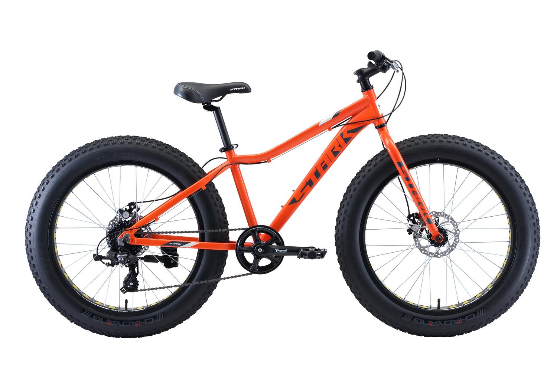 STARK Велосипед Stark Rocket Fat 24.2 D (2020) оранжевый/серый/белый one size фото