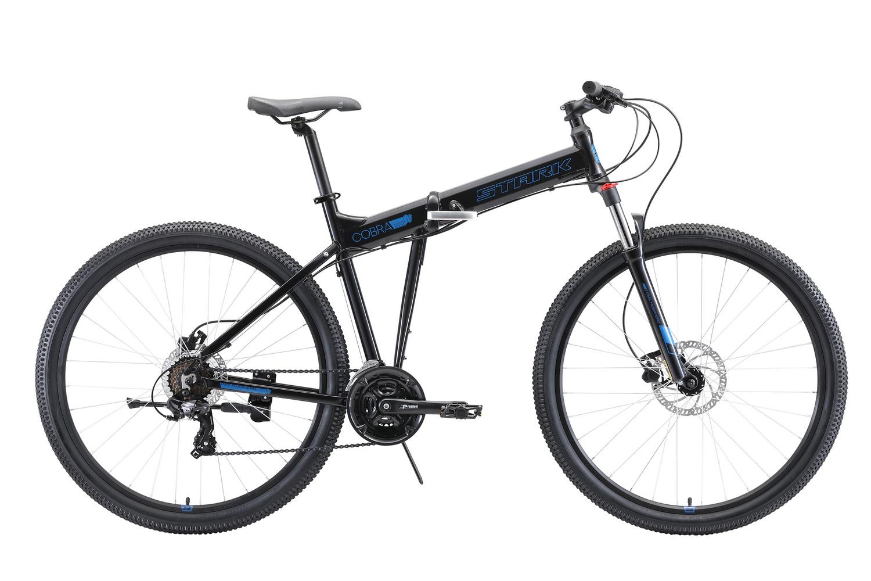 STARK Велосипед Stark Cobra 29.2 HD (2020) чёрный/голубой 18
