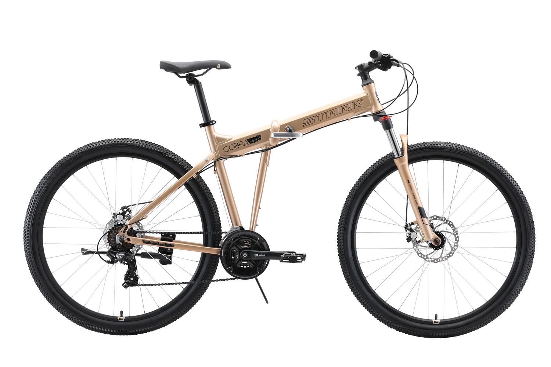 STARK Велосипед Stark Cobra 29.2 D (2020) бронзовый/черный 20