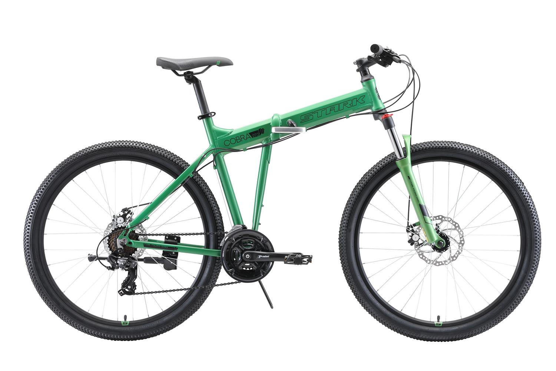 STARK Велосипед Stark Cobra 27.2 D (2020) зелёный/чёрный 20