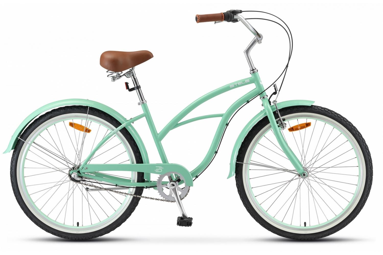 STELS Велосипед Stels Navigator 130 Lady 3-sp V010 зелёный 17