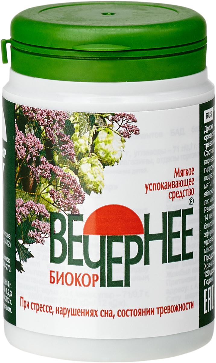 Купить Вечернее Биокор драже 0.18 г, 120 шт., Биокор Фирма