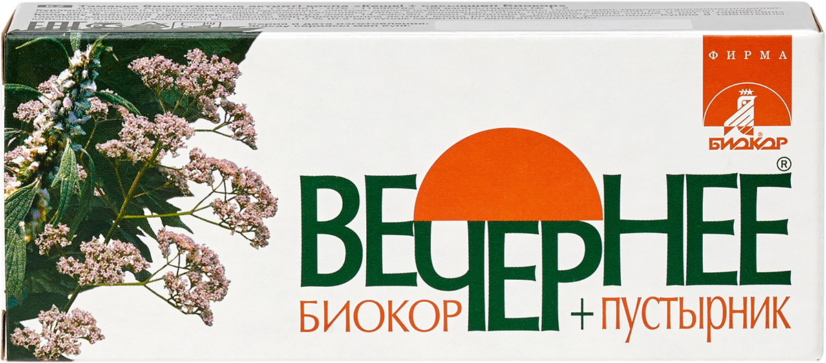 Вечернее + пустырник Биокор драже 60 шт.