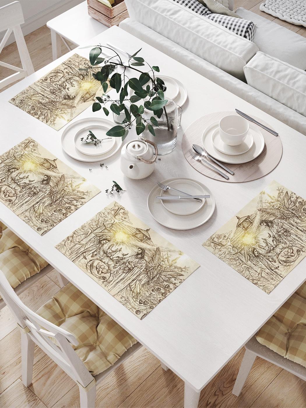 Комплект салфеток для сервировки стола «Символ Рождества Христова» (32х46 см, 4 шт.)