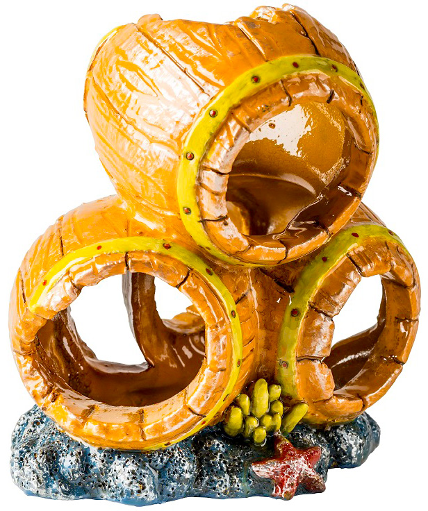 Декорация для аквариума GLOFISH Бочки S, пластик,