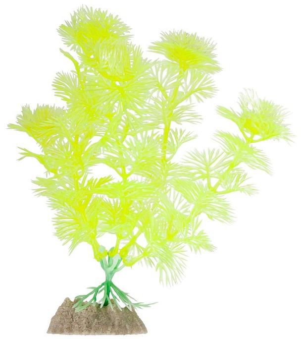 Искусственное растение GLOFISH растение,флуоресцентное, желтый, 15.24см