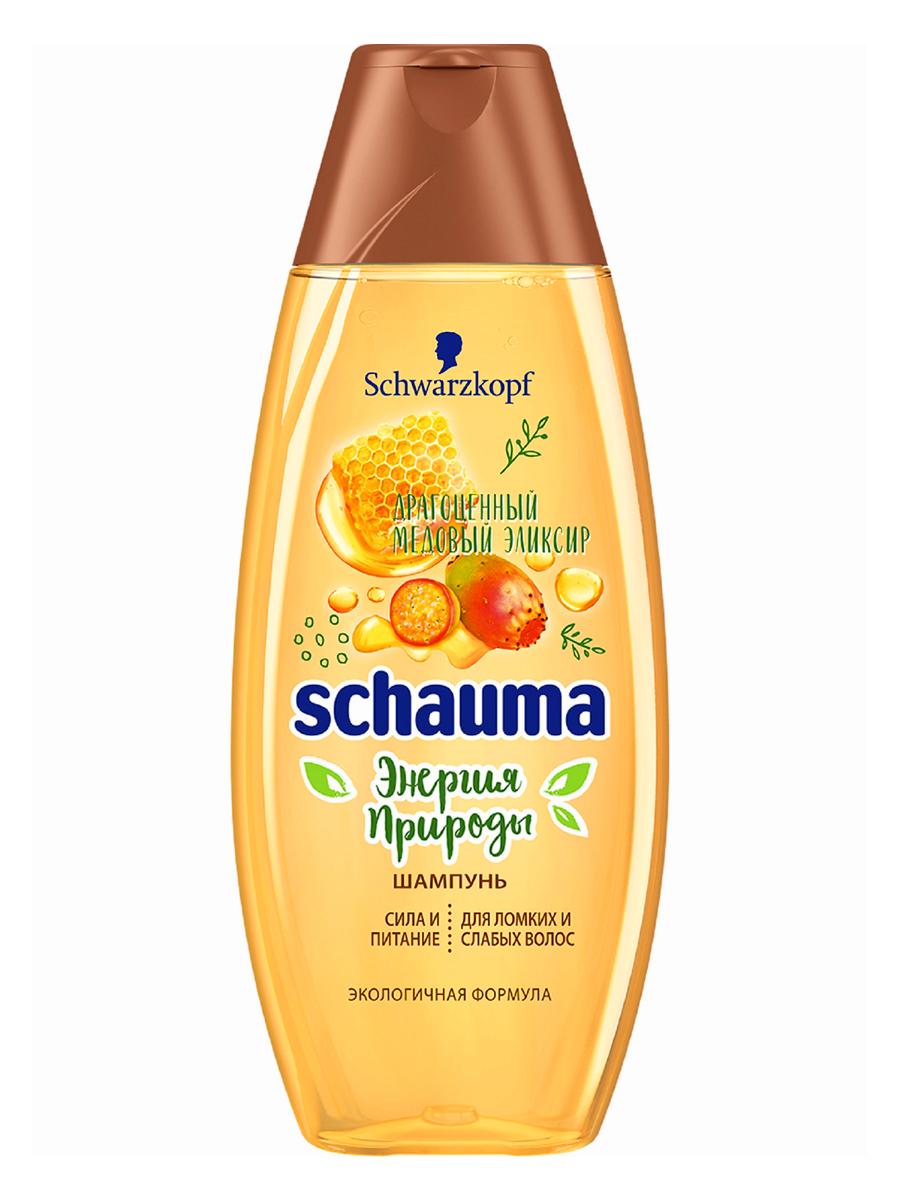 Купить Шампунь Schauma Энергия природы, для ломких и слабых волос, сила и питание, 400 мл, шампунь для женщин 2140138
