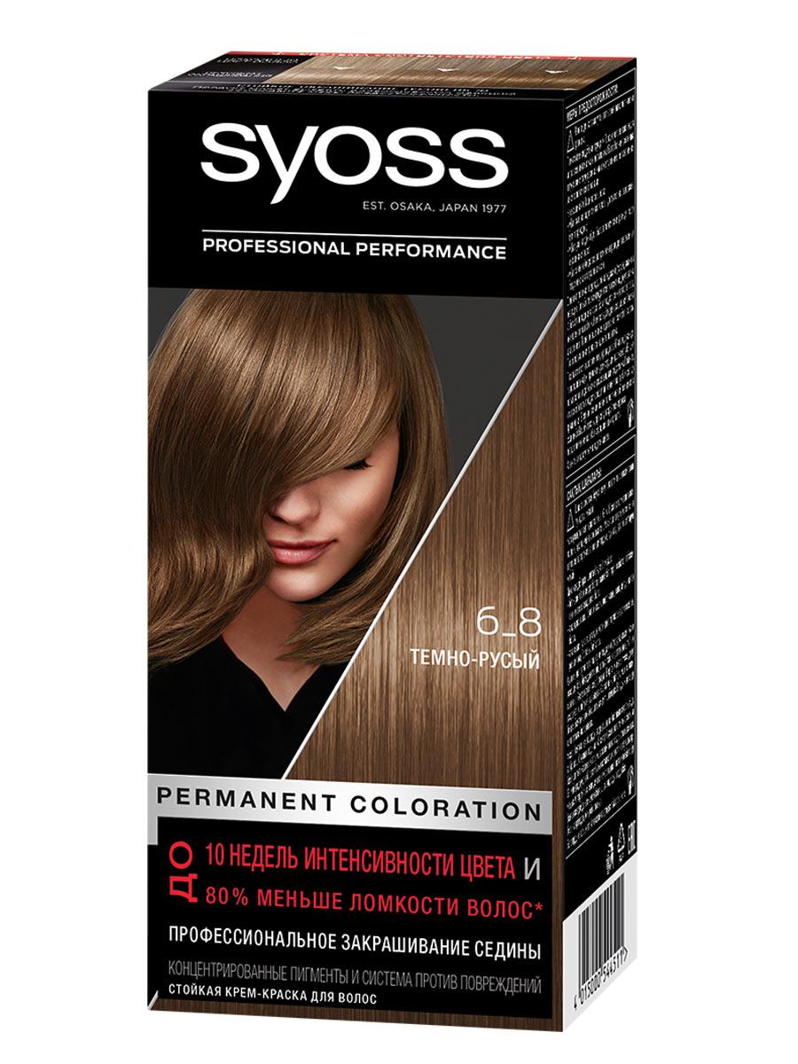 Купить Стойкая крем-краска для волос Syoss Color, 6-8 Темно-русый, 115 мл