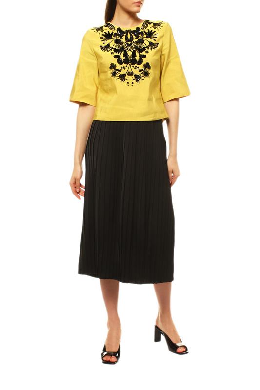 Блуза женская Dries Van Noten 10715-3421-202 желтая 38