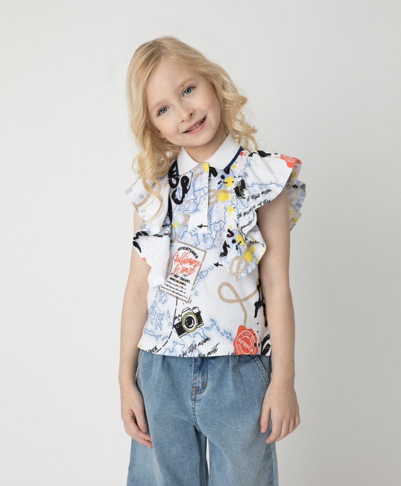 Блузка Gulliver для девочек цв. разноцветный р-р. 116