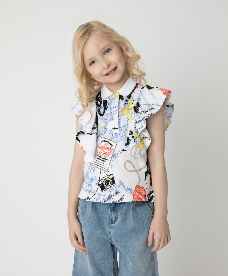 Блузка Gulliver для девочек цв. разноцветный р-р. 128