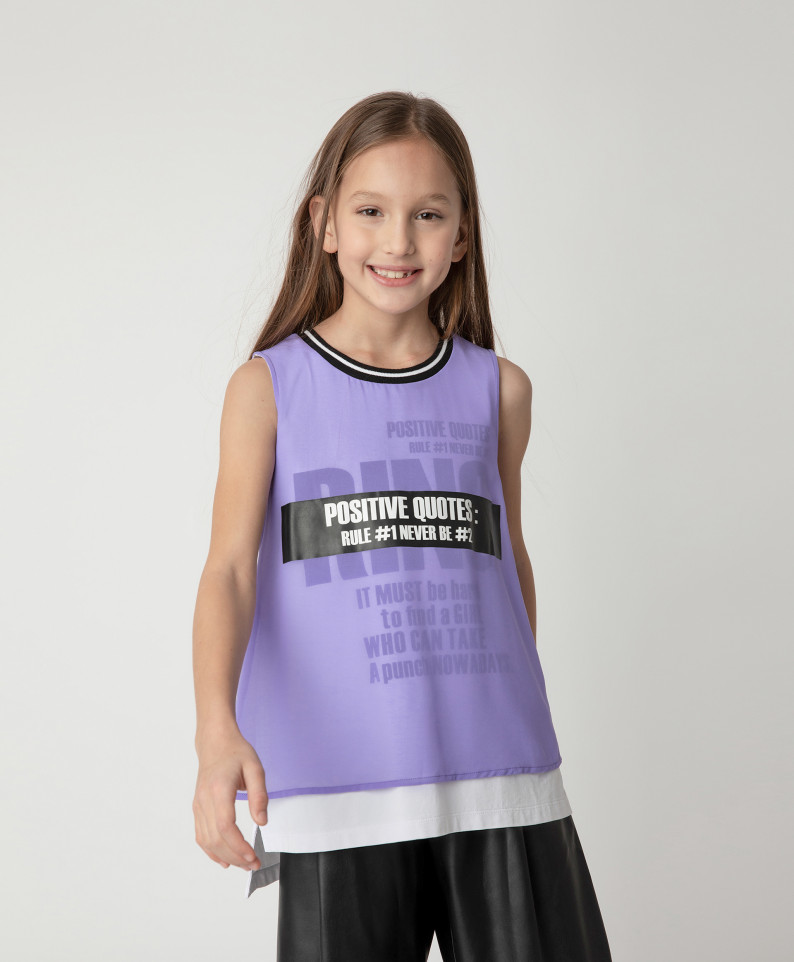 Купить 12109GJC1002, Блузка Gulliver для девочек цв. фиолетовый р-р. 140,