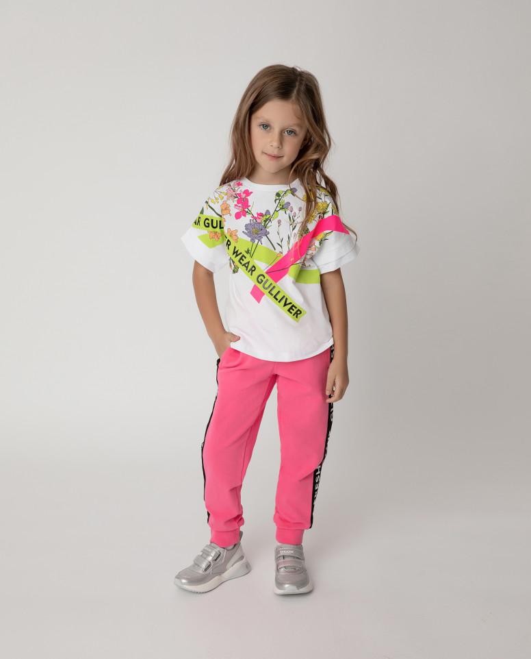 Купить 12103GMC5602, Брюки Gulliver для девочек цв. розовый р-р. 104,