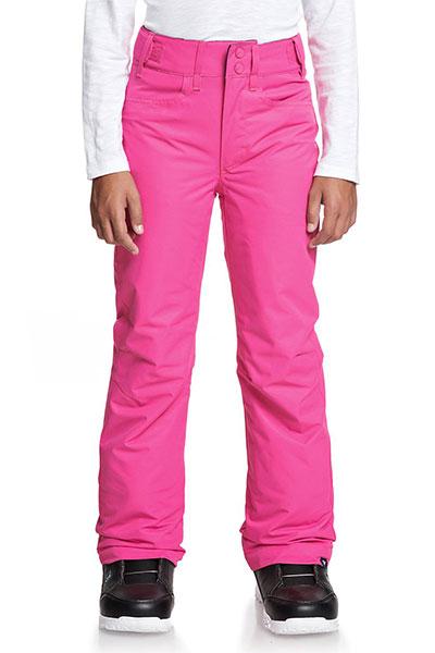 Брюки сноубордические детские Roxy Backyard Beetroot Pink темно-розовый женский XL