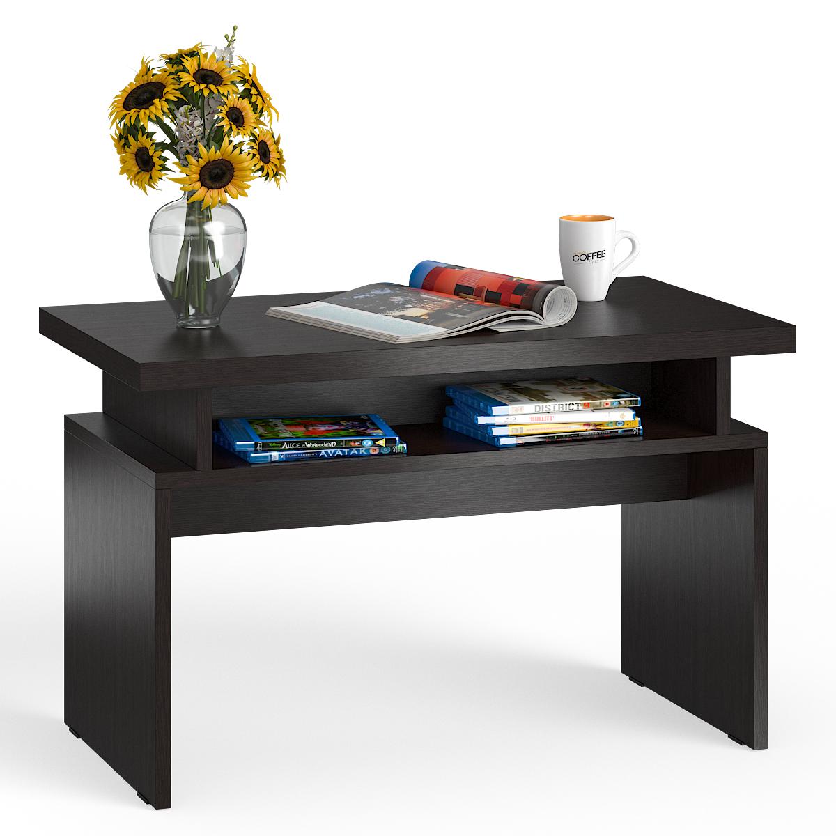 Стол журнальный Мебельный Двор СЖ-13 венге, 80,5х45,5х50 см