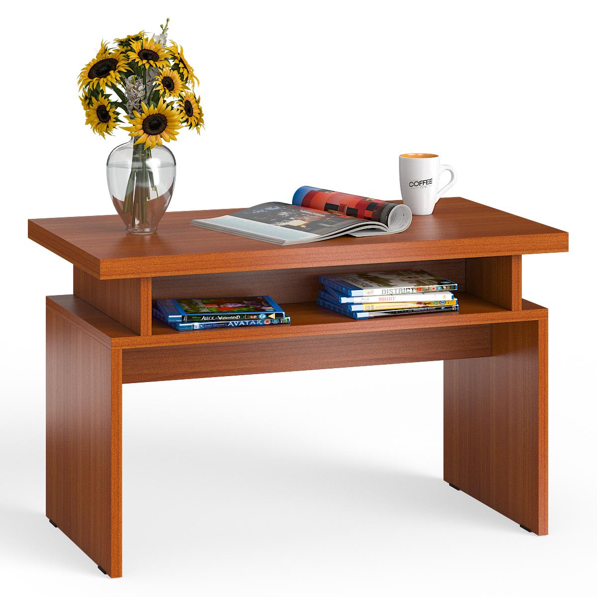 Стол журнальный Мебельный Двор СЖ-13 вишня, 80,5х45,5х50 см