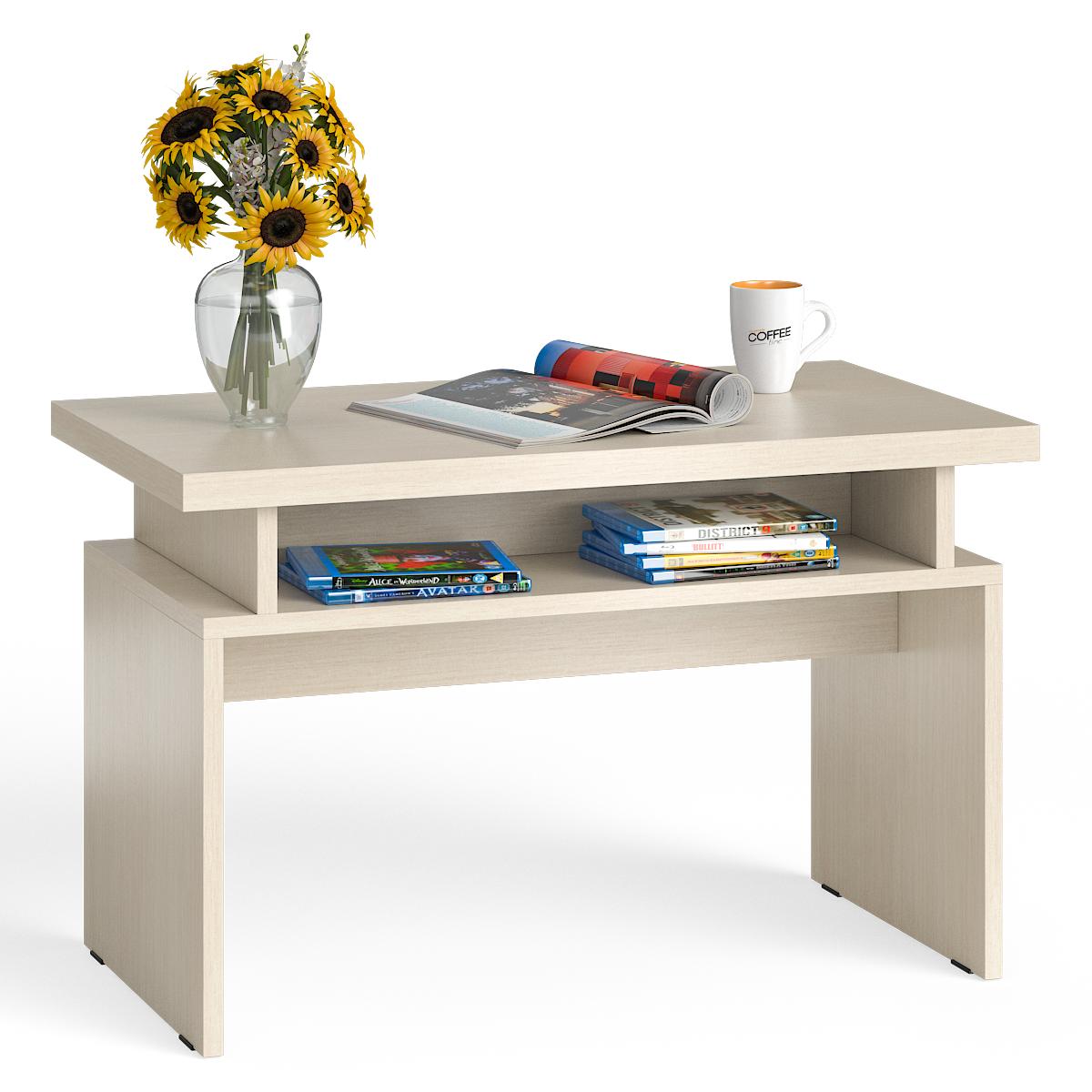Стол журнальный Мебельный Двор СЖ-13 дуб, 80,5х45,5х50 см
