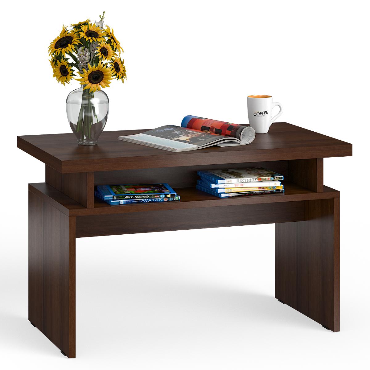 Стол журнальный Мебельный Двор СЖ-13 орех, 80,5х45,5х50 см