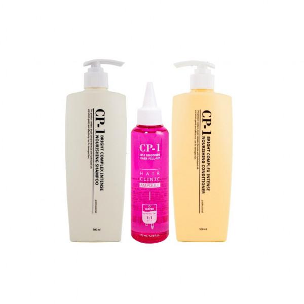 Купить Набор ESTHETIC HOUSE CP-1 состоящий из 3х средств, Набор по уходу за волосами ESTHETIC HOUSE CP-1 состоящий из 3х средств (маска-филлер, протеиновый шампунь, кондиционер)