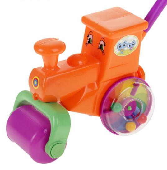 Каталка-паровоз Пластмастер Веселая поездка, в ассортименте